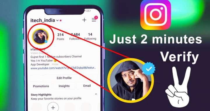 How do you get a blue tick on Instagram?