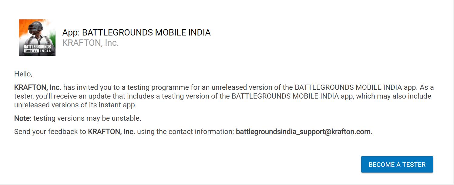 Battelground Mobile India