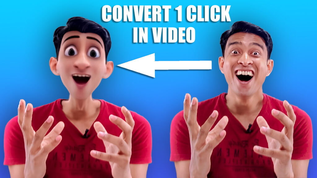 how to add cartoon effect in video and photo